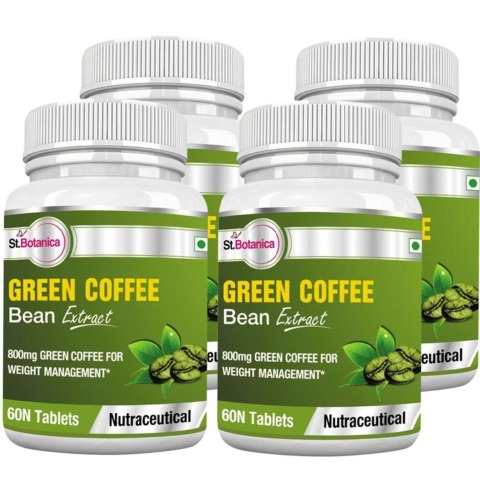 St.Botanica Green Coffee Bean Extract (800 mg),  4 Piece(s)/Pack