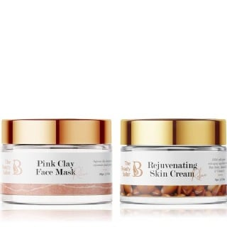 The Beauty Sailor Rejuvenating Skin Cream 50 g & Pink Clay Face Mask Combo,  100 g  Anti Ageing