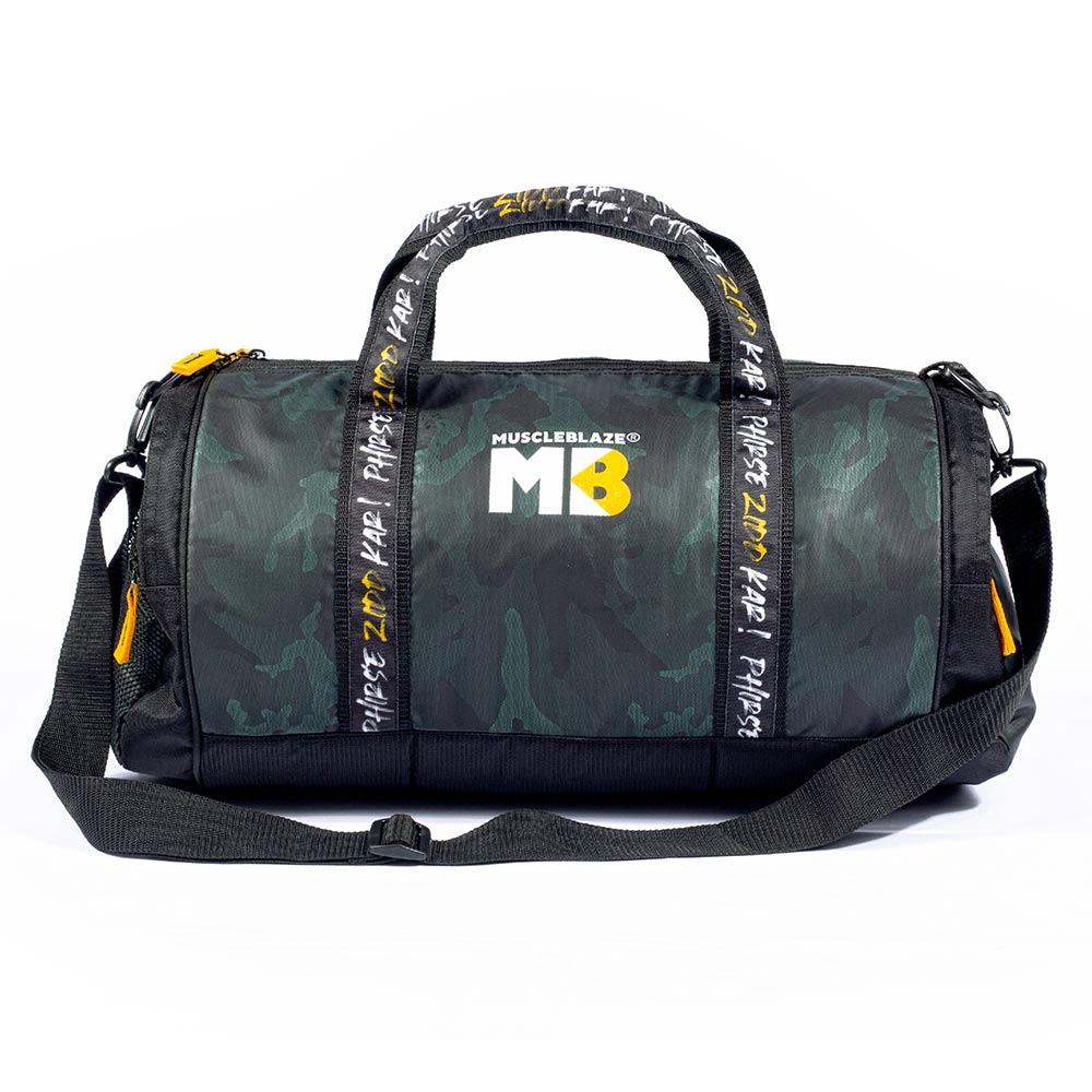 1 - MuscleBlaze Phirse Zidd Kar Gym Bag,  Camo, 30L