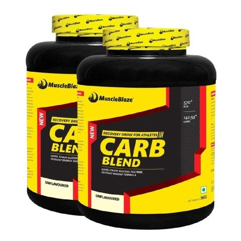 MuscleBlaze Carb Blend, Unflavoured - Pack of 2