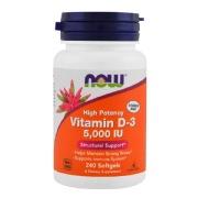 Now Vitamin D3 (5000 Iu),  240 softgels
