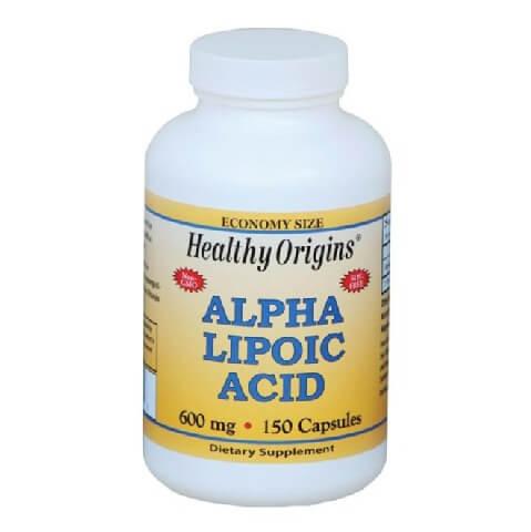 Healthy Origins Alpha Lipoic Acid 600 mg,  150 capsules