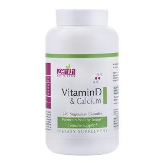 Zenith Nutrition Vitamin D & Calcium,  Unflavoured  240 capsules