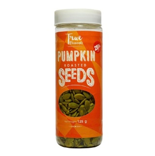 True Elements Roasted Pumpkin Seeds,  Unflavoured  0.125 kg