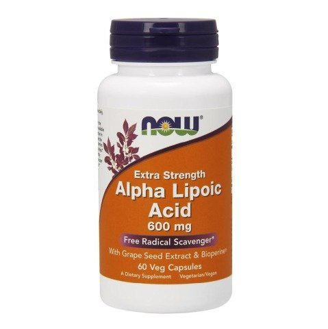 Now Alpha Lipoic Acid (600 mg),  60 veggie capsule(s)