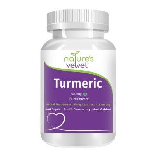 Natures Velvet Turmeric Pure Extract (500 mg),  60 veggie capsule(s)