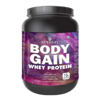 Nutriley Body Gain Whey Protein,  1.1 lb  Chocolate