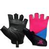 KOBO Ladies Gym Gloves (WTG-17),  Pink, Blue & Black  Medium