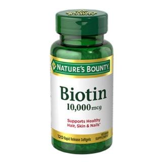 Nature's Bounty Biotin 10000 mcg,  Unflavoured  120 softgels