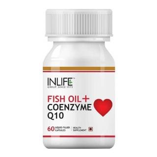 INLIFE Fish Oil + CoQ10,  60 capsules