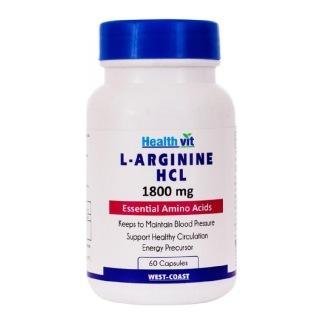 Healthvit L-Arginine HCL (1800 mg),  60 capsules
