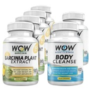 WOW Combo of Garcinia Plant Extract and  Body Cleanser,  90 veggie capsule(s)