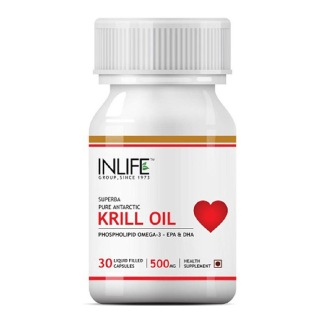 INLIFE Krill Oil Omega 3 (500 mg),  30 capsules