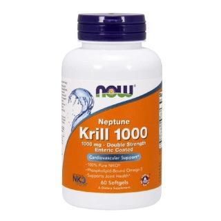 Now Neptune Krill Oil (1000mg),  60 softgels