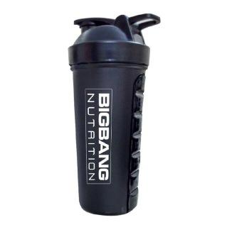 BigBang Nutrition Shaker with Pill Box,  Black  700 ml