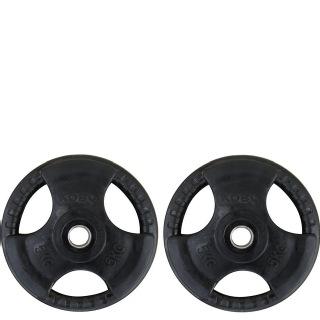 KOBO Premium Quality Rubber Coated Plate 31mm,  Black  5 kg