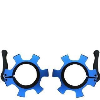KOBO Prolifting 50 mm Aluminium Olympic Barbell Rod Collars Set of 2,  Blue