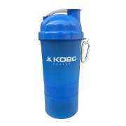 KOBO Shaker Sipper Blender Bottle (2903),  Blue  400 ml