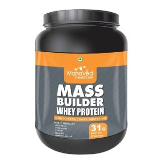 Mahaved Mass Builder Whey Protein,  2.2 lb  American Ice Cream