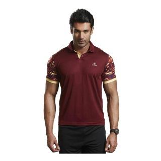 Omtex Active Wear T-Shirts - 1603,  Maroon  Medium