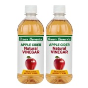 Green Elements Apple Cider Vinegar,  0.5 L  Natural (Pack of 2)