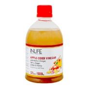INLIFE Apple Cider Vinegar with Mother,  0.5 L  Garlic, Ginger, Lemon & Honey