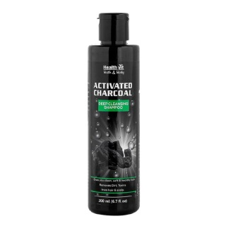 Healthvit Activated Charcoal Shampoo,  200 ml  All Hair Type