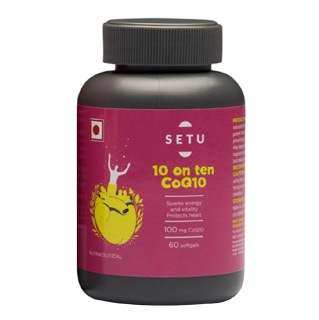 Setu 10 On ten CoQ10,  60 softgels