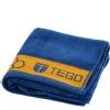 Tego Antimicrobial Sports Towel,  Mykonos Blue & Orange  16 x 30 Inches