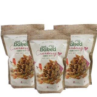 Get Baked Crunch Rocks (Pack of 3),  Cranberry  0.2 kg