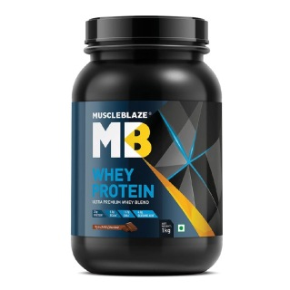 MuscleBlaze 100% Whey Protein Supplement Powder with Digestive Enzyme,  2.2 lb  30 Servings (Rich Milk Chocolate)