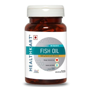 HealthKart Fish Oil 1000mg with 180mg EPA and 120mg DHA,  60 capsules