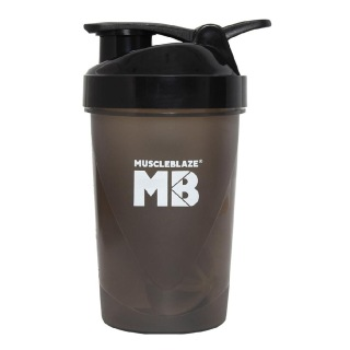 MuscleBlaze Fighter Shaker,  Black  400 ml