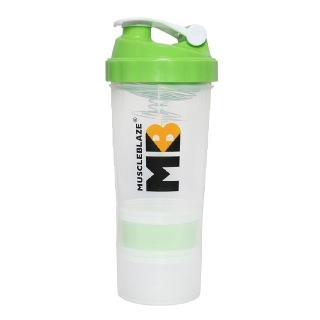 MuscleBlaze Hulk Shaker,  Green White  500 ml