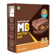 MuscleBlaze Protein Bar (22g Protein),  6 Piece(s)/Pack  Almond Fudge