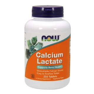 Now Calcium Lactate,  250 tablet(s)  Unflavoured