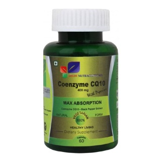 Delhi Nutraceuticals Coenzyme CQ10 with Piperine (400 mg),  60 capsules