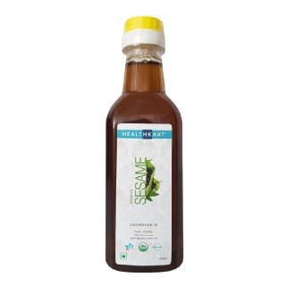 HealthKart Cold Pressed Organic Sesame Oil,  0.250 L