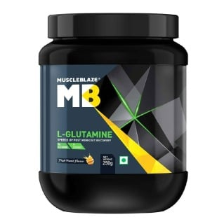 2 - MuscleBlaze Micronized Glutamine,  0.55 lb  Fruit Punch