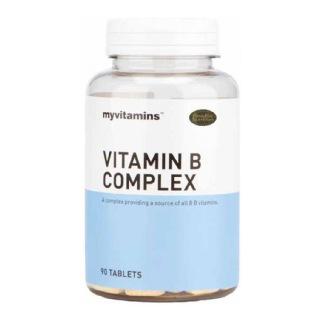 Myvitamins Vitamin B Complex,  Unflavoured  90 tablet(s)