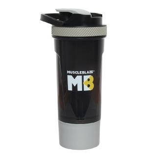 MuscleBlaze Shaker with Handle,  Grey  700 ml