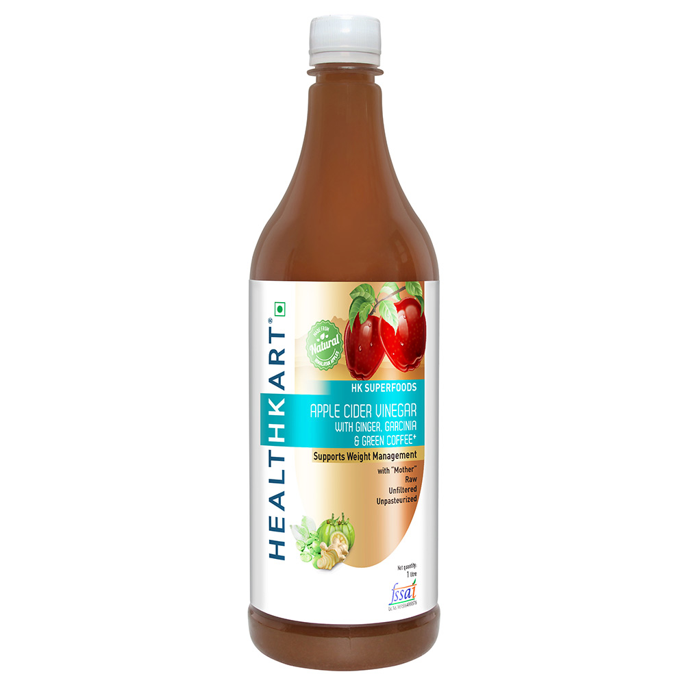Nouriza Apple Cider Vinegar With Mother 0 5 L Ginger Garlic Lemon Honey Online Healthkart
