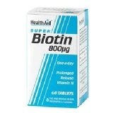 HealthAid Biotin (800 �g),  Unflavoured  60 tablet(s)
