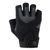 Harbinger Training Grip Gloves,  Caribbean Blue/Black  Medium