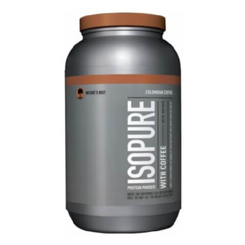 Isopure Protein Powder With Coffee,  3 lb  Colombian Coffee