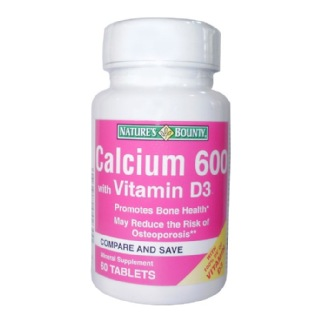 Nature's Bounty Calcium 600 with Vitamin D3,  Unflavoured  60 tablet(s)