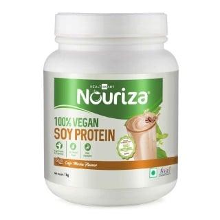 2 - Nouriza 100% Soy Protein,  2.2 lb  Cafe Mocha