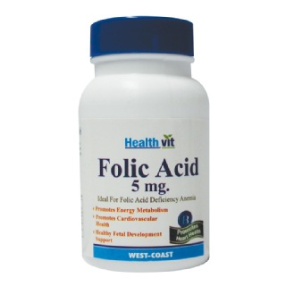 Healthvit Folic Acid,  Unflavoured  60 tablet(s)