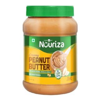 Nouriza Peanut Butter Fortified with Vitamins & Minerals Unsweetened,  1 kg  Creamy