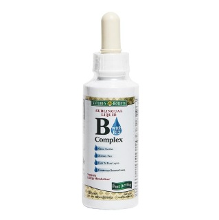 Nature's Bounty Sublingual Liquid B-Complex with B12,  Unflavoured  0.259 L